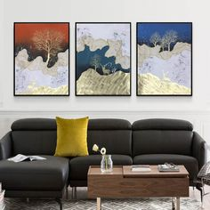 Canvas Wall Decor, Room Wall Decor, Living Room Pictures, Wall Art Pictures, Bedroom Frames, Flow Painting, 3 Piece Wall Art, Canvas Home, Canvas Art