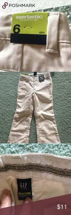 Gap Kids 6 Slim Khakis NWT!  Perfect for casual wear or school uniforms! GAP Bottoms Casual