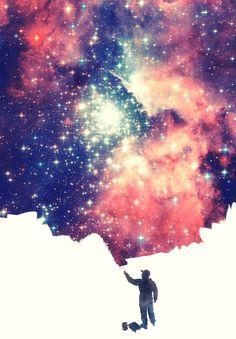 Painting the universe Art Print