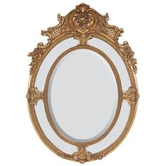 AFD Home  10329547 Mistress Oval Mirror, Parisian Gold Finish AFD Home