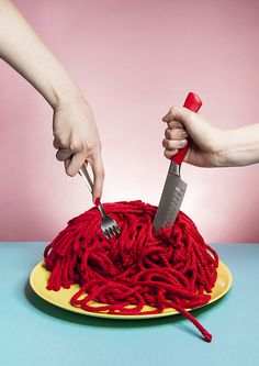 by Jessie Yip Knit still life fashion color for Farts Magazine *Notes: love the playfulness, very creative