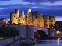Castle of Conwy, Wales (Castillo de Conwy, Gales).