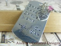 Every Road Leads Home Dogtag Pendant by aislinnscollared on Etsy