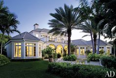 Traditional Exterior by Mario Buatta in Palm Beach, Florida