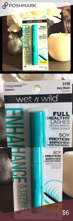 Wet N Wild Mascara Wet n wild enhance & define mascara in color Very Black. Full healthy lashes with clean definition. Cruelty free ❤️ wet n wild Makeup Mascara