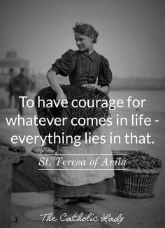 Today is St. Teresa of Ávila's feast day. She has an interesting story & unlikely path to sainthood (as many do). Good role model for women. Catholic Quotes, Religious Quotes, Catholic Marriage, Quotes To Live By, Life Quotes, Holy Quotes, Saint Teresa Of Avila, Sainte Therese, Catholic Saints