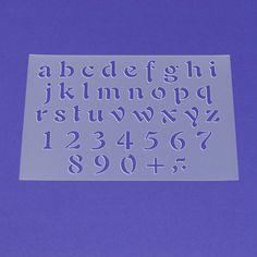 Schablone Buchstaben Satz a - z Klein - ME31 von Lunatik • Gestaltungs- und Geschenkideen auf DaWanda.com