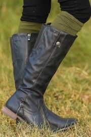Walk Right Up Boots-Black