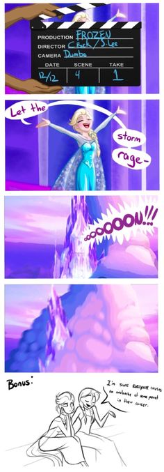 "Hahahahaha!!! Elsa and Mulan are now best buds! Mulan: ""So you caused an avalanche too?"" Elsa: ""Yeah..."" Mulan: ""Big one?"" Elsa: ""It was the whole mountain and wiped away my set."" Mulan: ""Nice! Up top."""