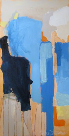 """""""Simple Fig"""" by Claire Desjardins - 24""""x48"""" - Acrylics on canvas. 2010."""