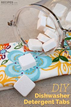 This recipe for homemade dishwasher tabs takes this miserable household task and actually makes it a joy. Homemade Cleaning Supplies, Cleaning Recipes, Cleaning Hacks, Diy Hacks, Homemade Products, Dishwasher Tabs, Homemade Dishwasher Detergent, Dish Detergent, Diy Cleaners