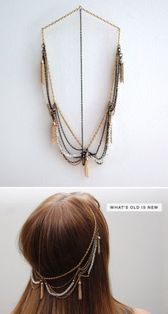 your very own headband. made from old jewelry!!