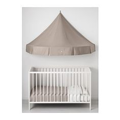 IKEA - CHARMTROLL Bed canopy  A bed canopy gives privacy and creates a room-in-room feeling.Can also be hung alone on the wall and at a lower height to ...  sc 1 st  Pinterest & SUNDVIK babybedje commode/ladekast en garderobekast ...