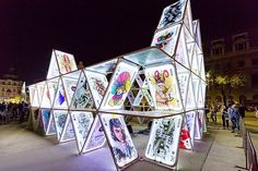 Postponed: House of Cards presented by Bracewell - Discovery Green, Houston, Texas Led Light Box, Light Art, Dutch Artists, Local Artists, Post Painterly Abstraction, Discovery Green, Urban Park, Create Animation, House Of Cards