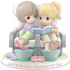 Figurine: Precious Moments Just Me And You, Relaxation For Two Figurine by The Hamilton Collection Hamilton