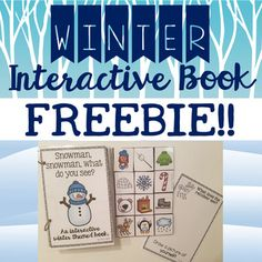 Winter Themed Interactive Book Click here to view my 250 page, JAM-PACKED winter themed speech and language bundle! Save 35% ($8.40) when you bundle!! This winter themed interactive book is great for targeting multiple goals:- Listening- Describing- Vocabulary- Basic Concepts- Expanding Utterances- Grammar- ArticulationThis activity is sure to keep your little ones with busy hands engaged thr...