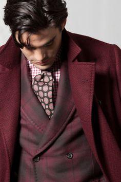 Fall 2012 Color - adore the coat colour. #menswear #fashion #burgundy #oxblood