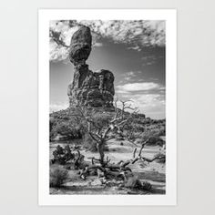 Arches National Park Balanced Rock Print Art Print