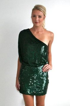 emerald sequin one shoulder dress! http://www.studentrate.com/fashion/fashion.aspx