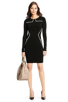 Josephine Knit Bodycon Dress In Black/ Ivory