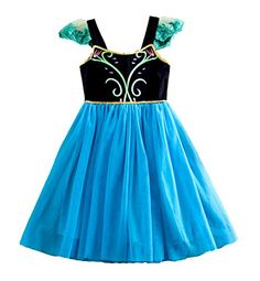 New Frozen Princess Elsa Anna Inspired Costume Dress Size 7-8 ** Details can be found by clicking on the image.