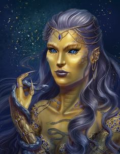 For annabelleayako Itzzi is a yuan-ti pureblood, painting her was so unusual and interesting! Dungeons And Dragons Characters, Dnd Characters, Fantasy Characters, Female Characters, Fantasy Portraits, Character Portraits, Character Art, Character Creation, Character Ideas