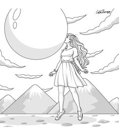 Princess Coloring Pages, Free Adult Coloring Pages, Printable Coloring Sheets, Coloring Pages To Print, Colouring Pages, Coloring Books, Mandala Coloring, Barbie Coloring, Next Gifts