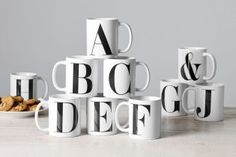 A-Z Mugs from Next