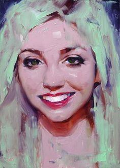 "Daily Paintworks - ""Smile"" - Original Fine Art for Sale - © John Larriva"