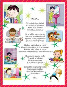 Igiena copiilor Kindergarten Crafts, Preschool Activities, Kids Education, Special Education, Romanian Language, Homework Sheet, 4 Kids, Children, Spring Crafts For Kids