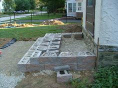 25 Ideas For Flagstone Patio Steps Design Patio Steps, Cement Steps, Front Porch Steps, Outdoor Steps, Cement Patio, Flagstone Patio, Diy Patio, Backyard Patio, Front Porches