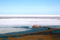 Prudhoe Bay, Alaska - Typical Bleak Coastline