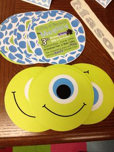 Hey, I found this really awesome Etsy listing at http://www.etsy.com/listing/154447710/monsters-inc-party-invitations