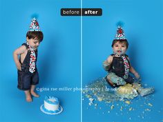cake smash before & after! | Gina Rae Miller Photography » Long Island, New York