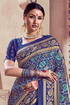 South Silk Sarees, Crepe Silk Sarees, Royal Look, Royal Blue, Cotton Silk, Printed Cotton, Upcoming Festivals, Kanjivaram Sarees, Blue Saree