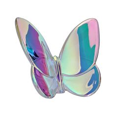 Baccarat Clear Iridescent Lucky Butterfly 2601482 by Baccarat [parallel import g Baccarat Crystal, Waterford Crystal, Rose Vase, Colorful Eye Makeup, Old Fashioned Glass, Crystal Collection, Vase Centerpieces, Gold Gilding, Collectible Figurines