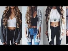 Casual Outfit Ideas For School - YouTube