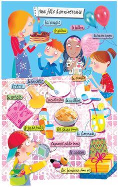 Ma fête d'anniversaire = My birthday party Study French, French Kids, Core French, French Teaching Resources, Teaching French, Teaching Spanish, Spanish Activities, Teaching Reading, Learning German