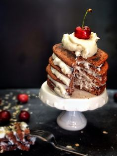 Black Forest Pancakes - my favourite #vegan pancakes!