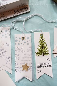 Gift tags nicely packed (DIY) - Gnomes ideas - # Gift Tags up Stampin Up Christmas, Christmas Signs, Christmas Gift Wrapping, Diy Christmas Gifts, Xmas, Craft Gifts, Diy Gifts, Handmade Gifts, Diy Cadeau