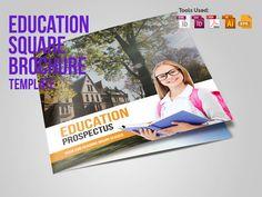 Education Square Trifold Prospectus by Miyaji75 on @creativemarket