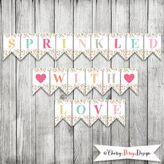 Sprinkled With Love Party Banner - INSTANT DOWNLOAD by CherryBerryDesign on Etsy
