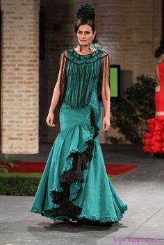 Traje de Flamenca - Amparo-Munoz - Pasarela-Wappissima-2014-