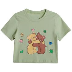 Pretty Outfits, Cool Outfits, Fashion Outfits, Bear Print, Cute Bears, Kawaii Clothes, Kawaii Fashion, Mom Shirts, Look Cool