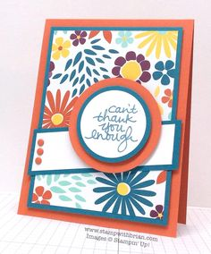 Lovely Amazing You, Stampin' Up!, Brian King, FMS174 with PL SAB card for background