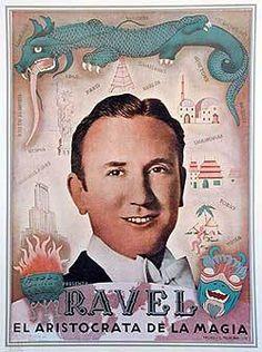 Ravel original vintage c.1950 Argentina magic poster El Aristocrata de la Magia   eBay