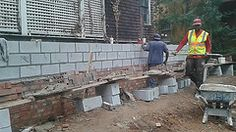 Myers & Heard Masonry Contractors in Atlanta installing a bricks and blocks addition in downtown Atlanta, Georgia. Call Jeff Myers today for your free affordable estimate at 678-866-5281. | Flickr - Photo Sharing!