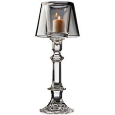 Godinger Lighting by Design Votive Lamp ($30) ❤ liked on Polyvore featuring home, lighting, smoke grey, crystal lighting, godinger and crystal lamps