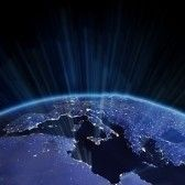 Europe relief from space. Earth map from NASA stock photography