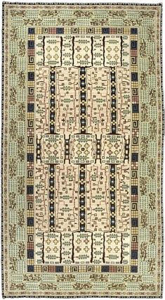 """""""Tree in Flower"""" pile rug designed by Marta Maas Fjetterstrom, inspired by an antique Bakshaish rug."""